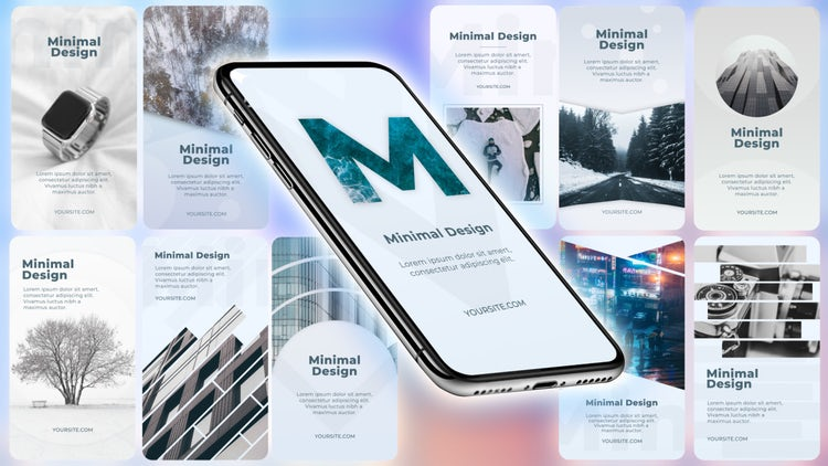 Instagram Minimal Stories Pack: After Effects Templates