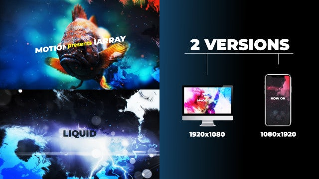 Liquid Opener: After Effects Templates