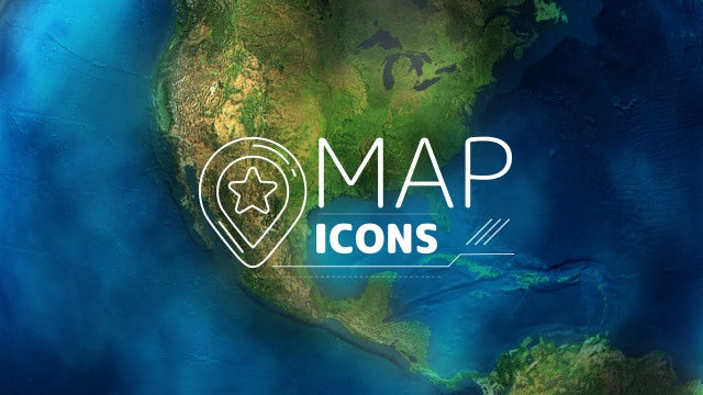 Map Icons: After Effects Templates