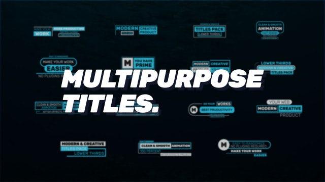 Multipurpose Titles: Premiere Pro Templates