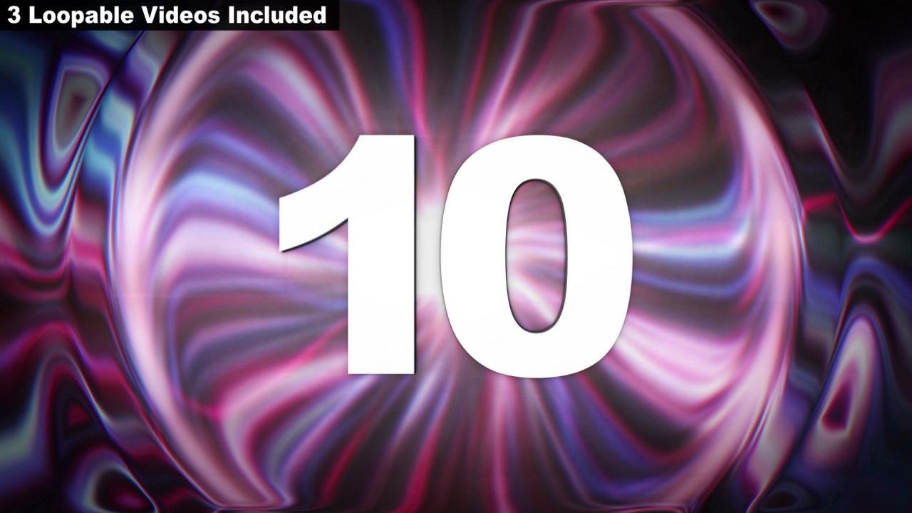 Fancy Purple Glitch Countdown 177081 - FREE