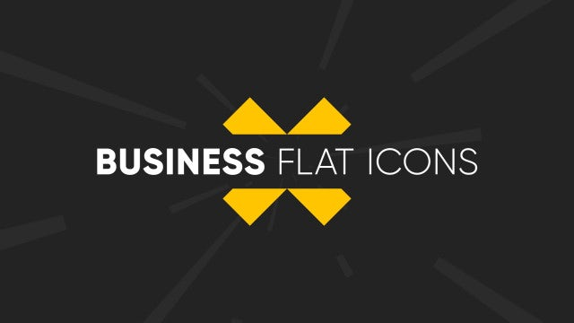 Business Flat Icons: Motion Graphics Templates