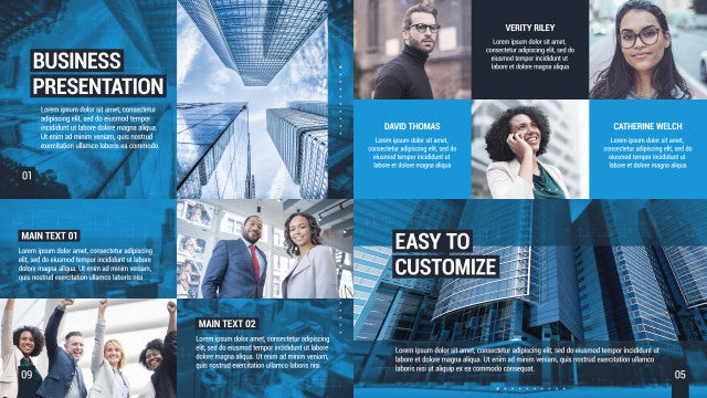 Clean Business Presentation: After Effects Templates