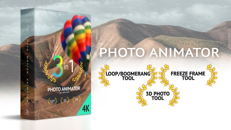 3D Motion Photo Animator: After Effects Templates