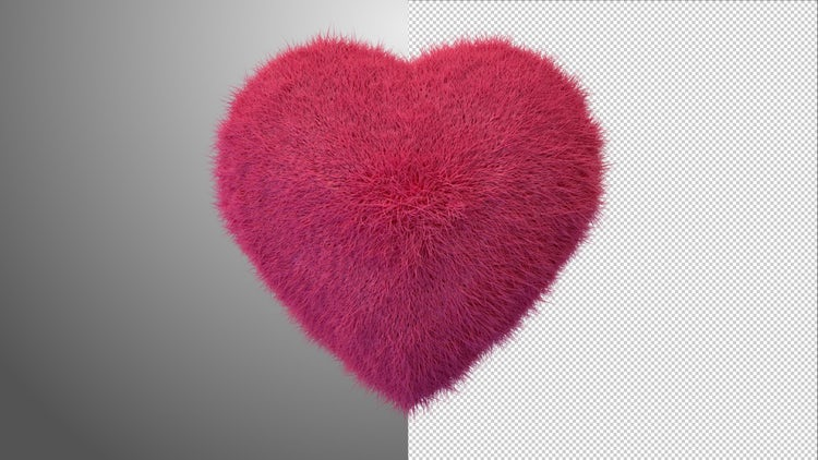 Furry Beating Heart: Stock Motion Graphics
