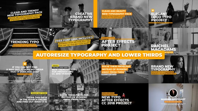 Clean Typography And Lower Thirds: After Effects Templates
