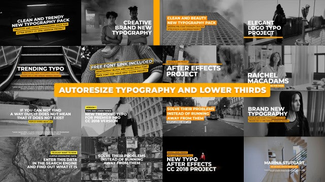 Clean Typography And Lower Thirds: Motion Graphics Templates