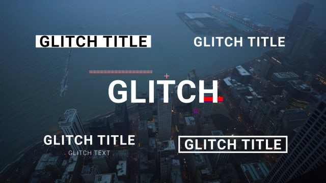 Glitch Title Animations: Motion Graphics Templates