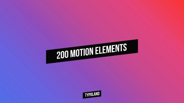 200 Motion Elements: Premiere Pro Presets