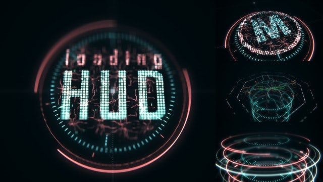 Loading HUD: After Effects Templates