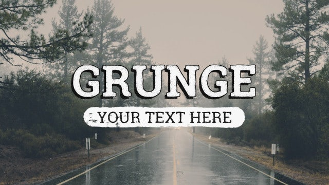 Grunge Title Animations: After Effects Templates