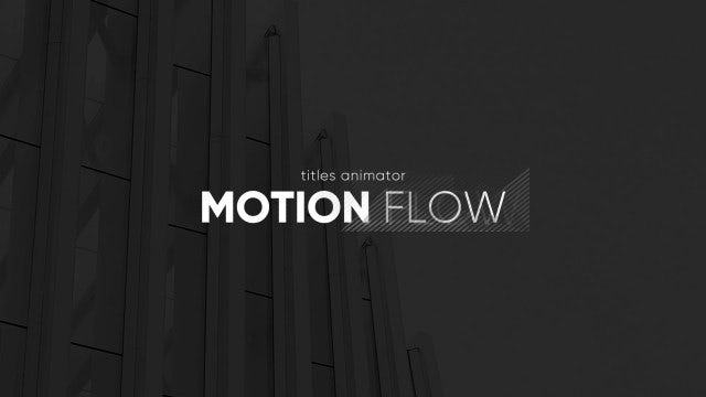 Titles Animator - Motion Flow: Premiere Pro Templates