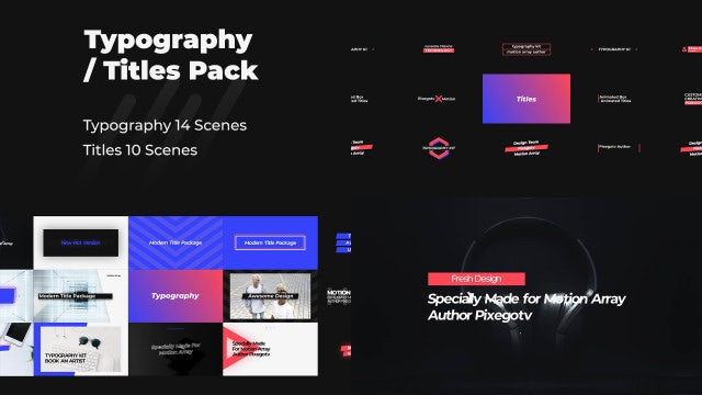Typography & Titles Pack: Premiere Pro Templates