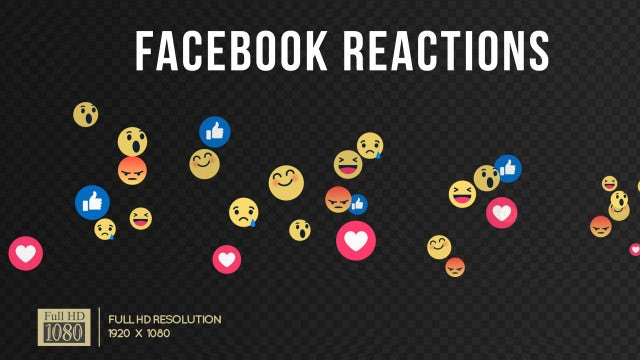 Facebook Reactions Live Stream Pack: Stock Motion Graphics