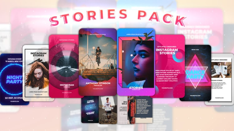 Instagram Stories Pack 13: After Effects Templates