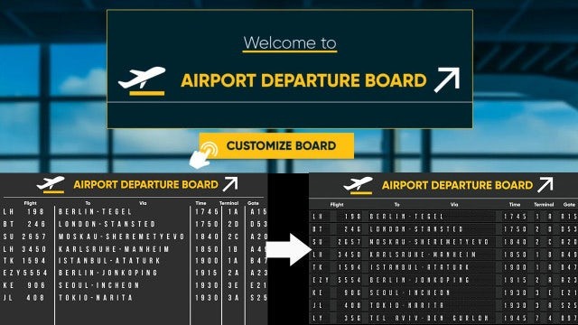 Airport Departure Board: After Effects Templates