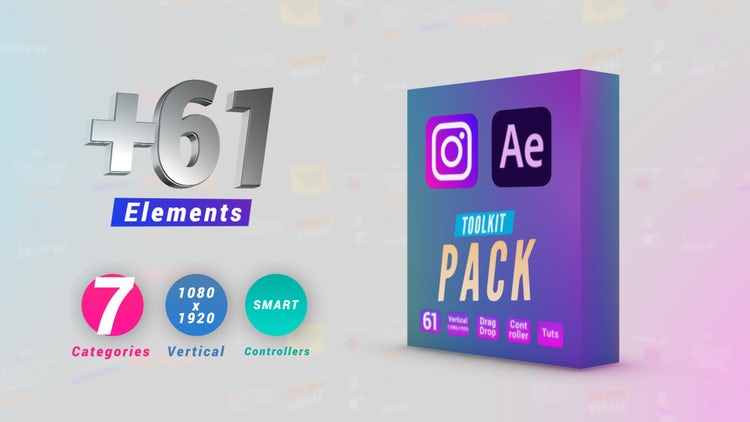 Instagram Toolkit Pack: After Effects Templates