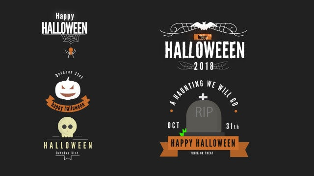 Spooky Titles Pack: Motion Graphics Templates