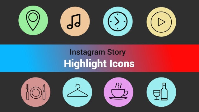 Instagram Highlights Story Icons: Stock Motion Graphics