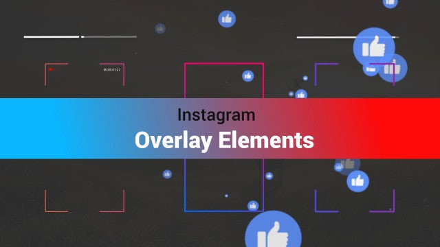 Instagram Overlay Elements: Stock Motion Graphics