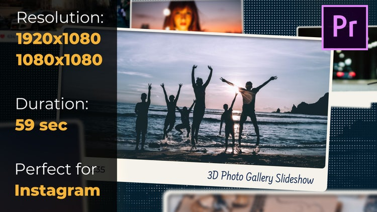 3D Photo Gallery Slideshow: Premiere Pro Templates