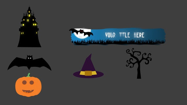 Spooky Animated Elements V1: Motion Graphics Templates