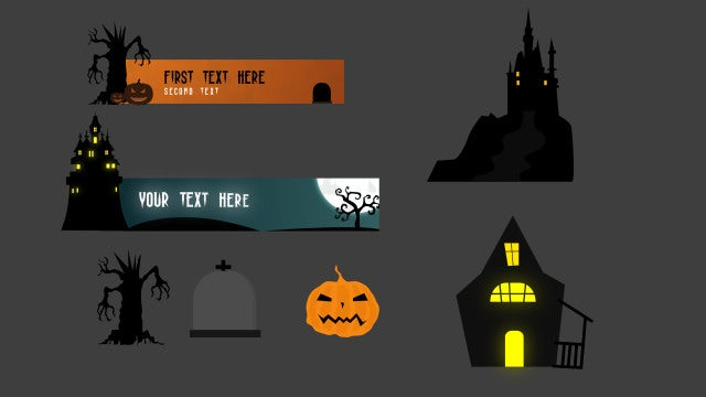 Spooky Animated Elements V2: Motion Graphics Templates
