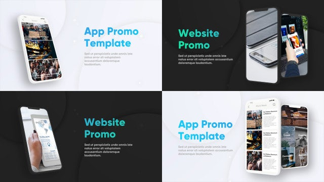 Multiscreen Phone App Promo (Light + Dark): Premiere Pro Templates