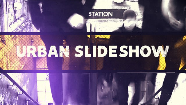 Urban Slideshow: After Effects Templates