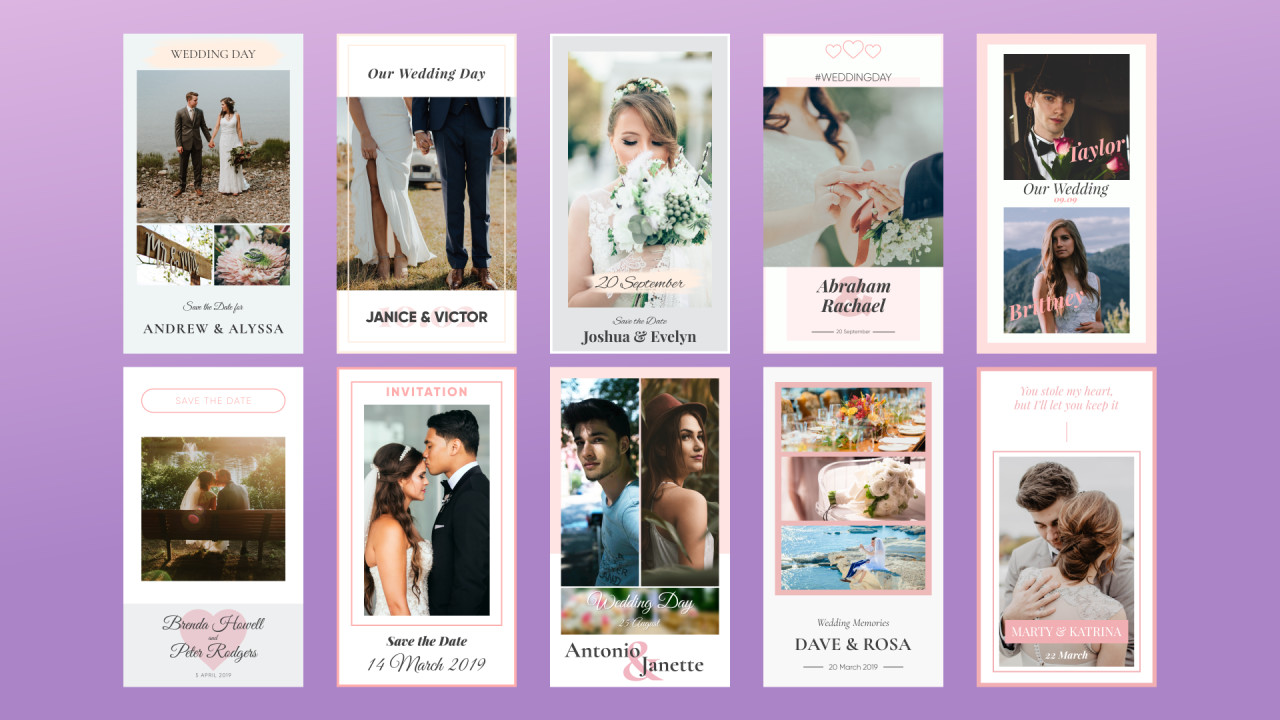 Image result for wedding instagram stories