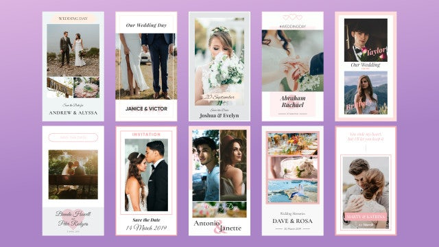 Wedding Instagram Stories: Motion Graphics Templates