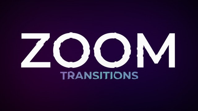 Zoom Transitions: After Effects Presets