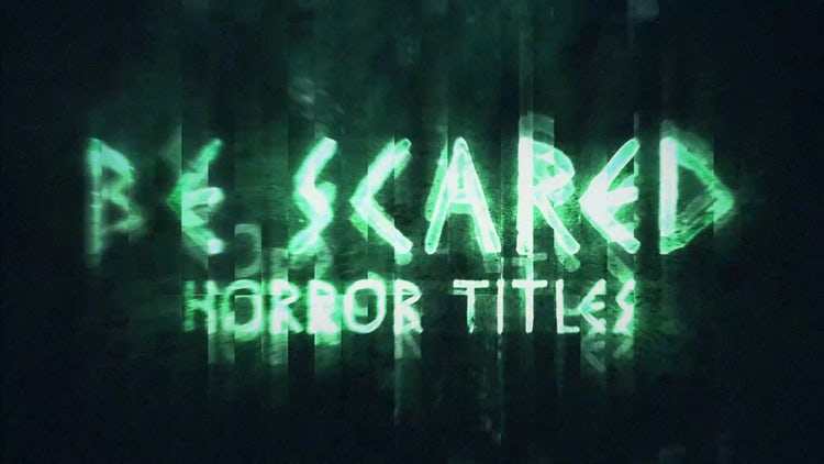 BeScared Horror Title: After Effects Templates