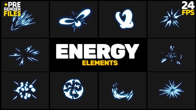 Energy Bursts Pack: Stock Motion Graphics