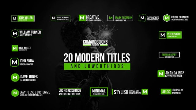 20 Modern MOGRT Titles And Lowerthirds: Motion Graphics Templates