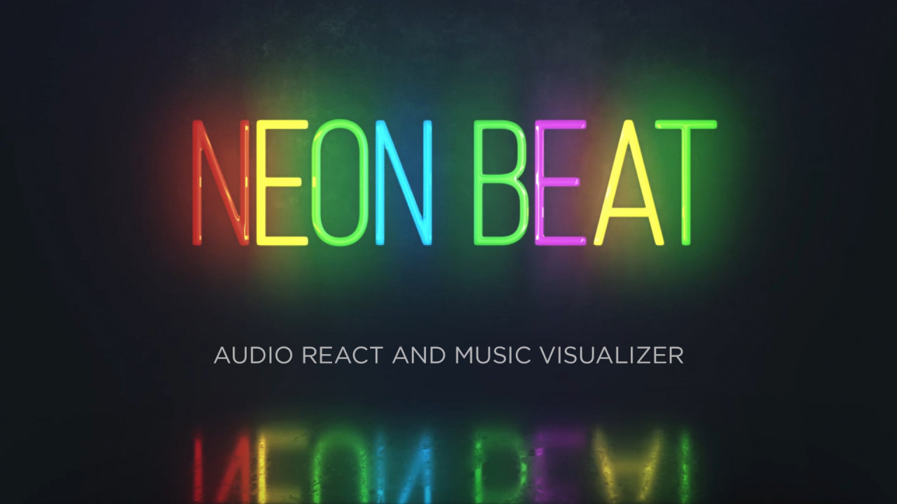 Audio React - Neon Music Visualizer - After Effects