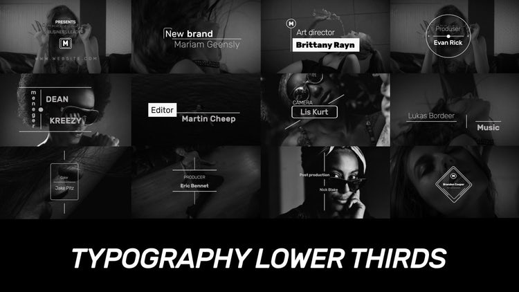 Typography Lower Thirds: Premiere Pro Templates