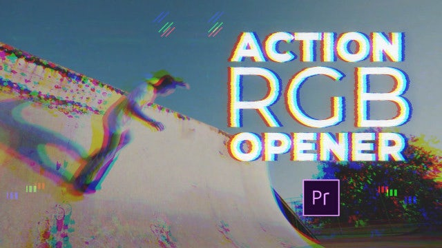 Action RGB Opener: Premiere Pro Templates