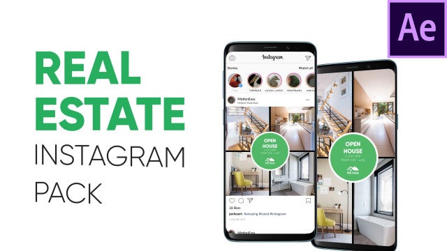 Real Estate - Instagram Pack: After Effects Templates