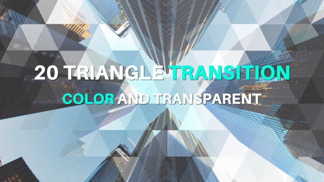 Triangle Transitions: After Effects Templates