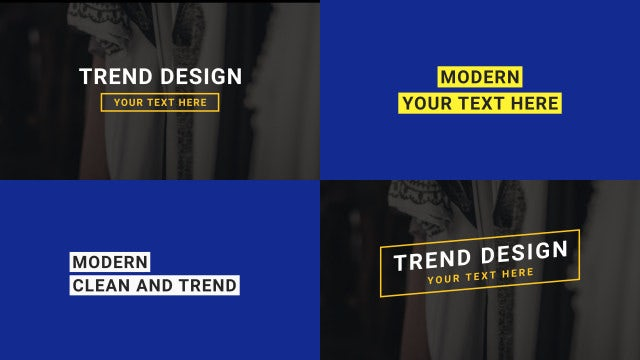 Modern And Trendy Titles Pack: After Effects Templates