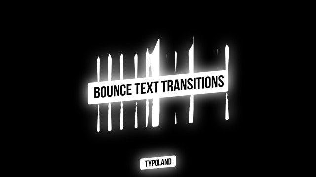 50 Bounce Text Transitions: After Effects Presets