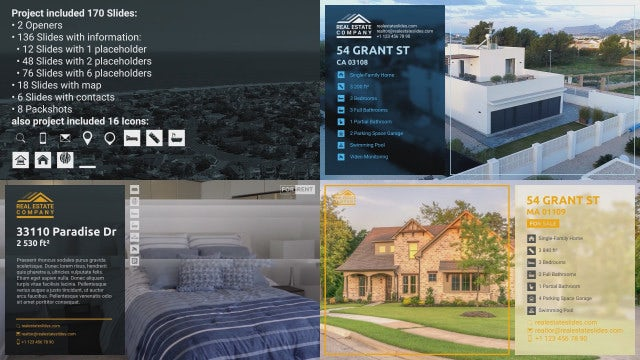 Real Estate Promo With Glass Transitions: After Effects Templates