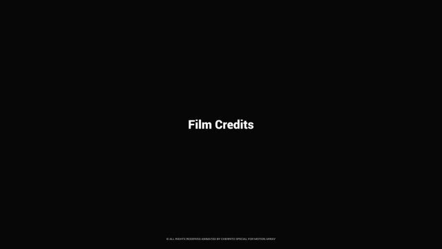 Film Credits: After Effects Templates