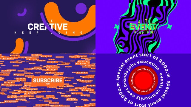 Creative Trendy Titles: Motion Graphics Templates
