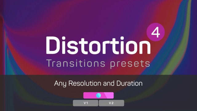 Distortion Transitions Presets 4: Premiere Pro Presets