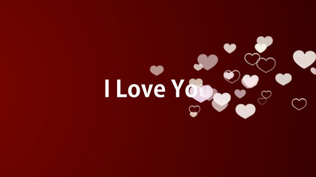 I Love You Photo Slideshow: After Effects Templates
