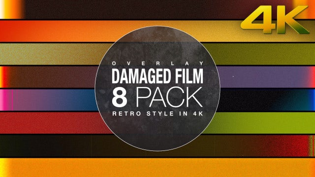 Damaged Film Overlay 4K Collection: Stock Motion Graphics