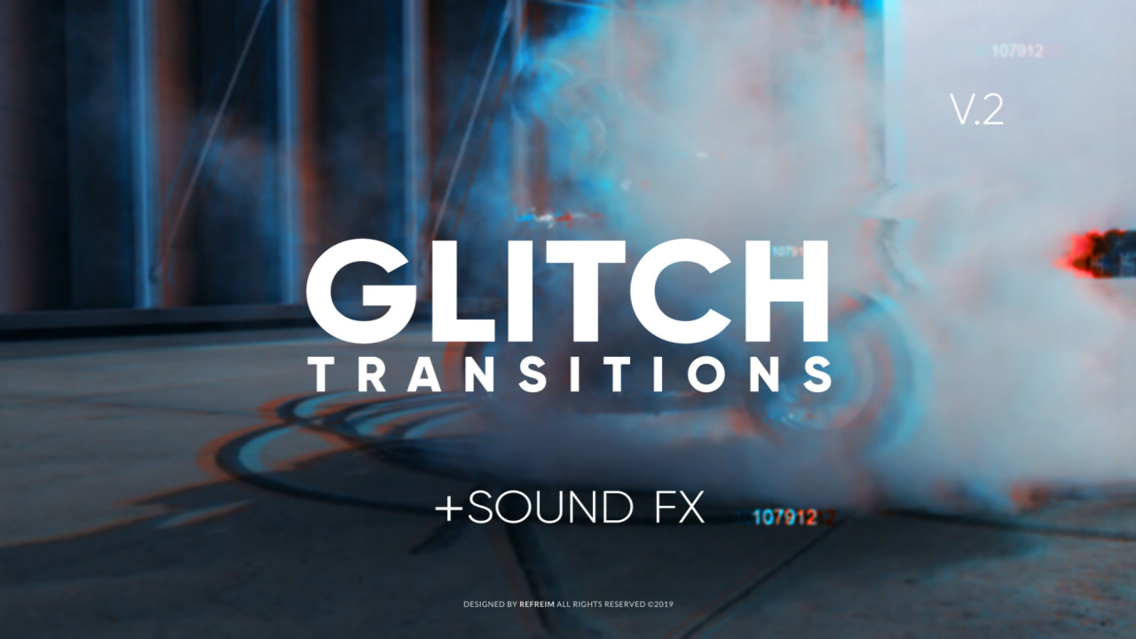 Glitch Transitions V.2 187038 + Music