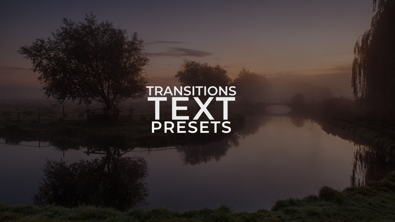 Text Transitions Presets 187046 + Music
